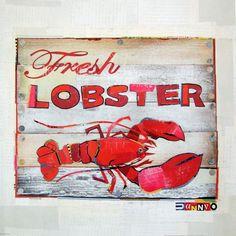 Maine Lobster Print by DannyOStudio on Etsy, $20.00    DannyOStudio's website is www.dannyostudio.com/
