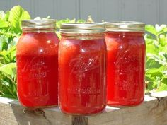 Canned Strawberry Lemonade Concentrate  3 quarts of canned concentrate with enough left over for a fresh glass for yourself. Just add ice.    6 cups strawberries, cleaned and hulled  4 cups freshly squeezed lemon juice  6 cups sugar water bath (15 min after boil)