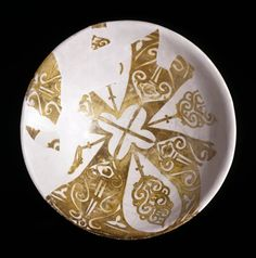Lustre-ware bowl, Fustat, Egypt, c. 975-1125, diameter 13.7 inches (1938,0411.1)