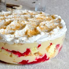 If you love coconut cream pie & trifle this is your dessert! A little coconut rum & sweet raspberry compote make this trifle extra special. A fan favorite!