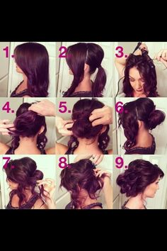 Haare geflochten hochsteck diy