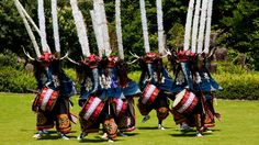 Shishi-odori, or deer dance, is performed in various parts of Iwate in Japan. #Culture #Traditions #Colors #Dance
