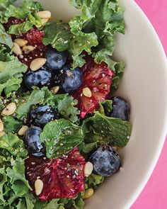 Kale and Blueberry Salad with Citrus and Honey