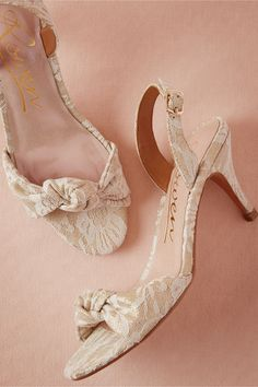 Parlor Slingbacks in Bride Bridal Shoes at BHLDN ...Fabulous for the bride wanting a gold accent that isn't too bold.