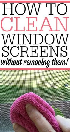 Don't remove your window screens to wash them. See how to clean your window … Don't remove your window screens to wash them. See how to clean your window screens without removing them. It's easy and gets rid of dirt and grime. Deep Cleaning Tips, House Cleaning Tips, Cleaning Solutions, Spring Cleaning, Cleaning Hacks, Diy Hacks, Cleaning Products, Cleaning Recipes, Cleaning Routines
