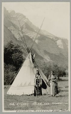 An unidentified couple of the Assiniboine Nation. No date, location, or other information.