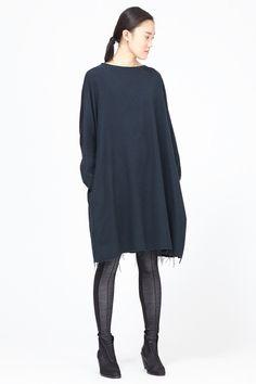Black Crane Painter Dress