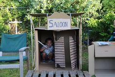 Shanty town kept the kids happy