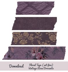 Digital Washi Tape from Vintage Rose Brocante Graphic Design Fonts, Graphic Design Tutorials, Dorm Art, Pop Stickers, Scrap Material, Pin Art, Journal Stickers, Aesthetic Stickers, Diy Wall Art