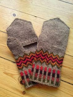 YES YES YES convertible fair isle mitts that ROCK