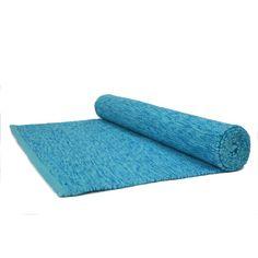 Natural Cotton Yoga Mat - Blue