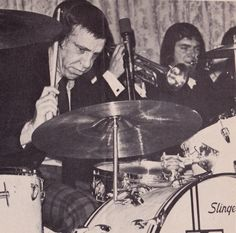 From Downbeat Magazine in 1970 this photo was later used by Slingerland in their advertising