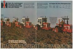 International Tractors, International Harvester, Biggest Truck, Old Tractors, Case Ih, Big Trucks, Engineering, Advertising, Gold