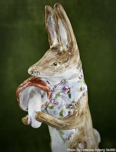 Rabbit figurine made by my friend Julie Whitmore
