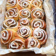 Baking Recipes, Dessert Recipes, Buffet, Danish Food, Bread And Pastries, Eat Breakfast, Bread Baking, Yummy Cakes, No Bake Cake