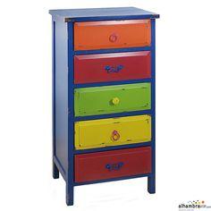 Mueble cajones colores