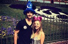 Kaley Cuoco and Ryan Sweeting Take Mini-Honeymoon at Disneyland! | Cupid's Pulse. Photo courtesy of Kaley Cuoco's Instagram. #RyanSweeting #KaleyCuoco #KaleySweeting #DisneyLand