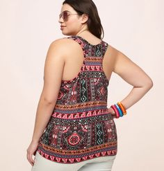0fc09bc5d5a2 Find prints that match your personality like our plus size Patchwork  Racerback Tank available in sizes