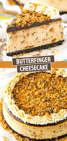 Butterfinger Cheesecake, Banana Pudding Cheesecake, Homemade Cheesecake, Cheesecake Desserts, Köstliche Desserts, Delicious Desserts, Yummy Food, Yummy Cheesecake Recipe, Pudding Cake
