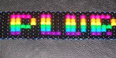 Rainbow Plur Kandi Cuff