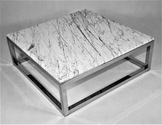 stainless steel coffee table ''Cube'' space-loft.com