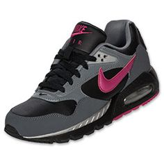 Love these Wome's Nike Air Max Correlate Leather Tennis Shoes,   Black/Sport Fuschia/Dark Grey....on my list!