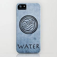 Avatar Last Airbender - Water iPhone Case by briandublin - $35.00    Earth, Fire, Water, Air. What kind of bender are you?     Avatar Fans, now you can show everyone what element you're reppin' with these iPhone cases! Available for all iPhone Models as a case or a skin.