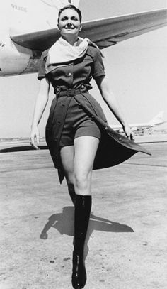 Retro TWA Flight Attendant in 1971.