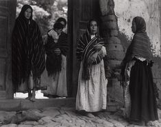 Available for sale from Aperture Foundation, Paul Strand, Women of Santa Ana, Mexico Hand-pulled dust-grain photogravure, 12 × 16 in Most Famous Photographers, Great Photographers, Street Photography, Nature Photography, Santa Ana, Alfred Stieglitz, Photos Of Women, Women In History, Black And White Photography