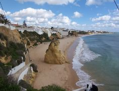beautiful beach in Albufiera, portugal