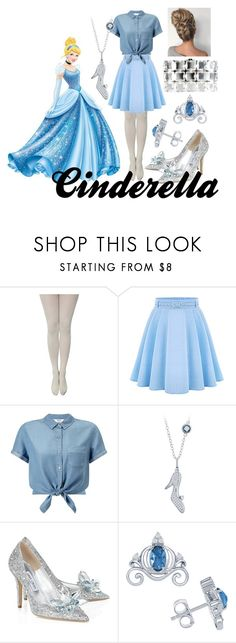 """""""Cinderella"""" by lottie2004 ❤ liked on Polyvore featuring Disney, WithChic, Miss Selfridge, Jimmy Choo, Chanel and disneybound"""