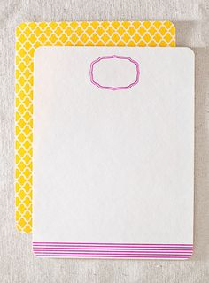 Bergamot lettersheets - Eco bamboo letter-writing sheets with colorful offset printing. $20