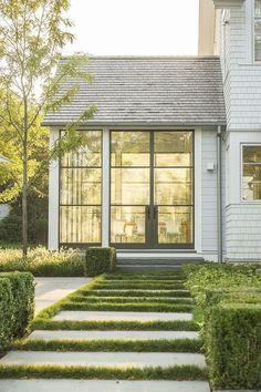 Modern farmhouse exterior design ideas (41) #modernhomedesignplans
