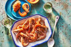 Shrimp recipes include barbecued shrimp with grits, classic shrimp fra diavolo and more. Find recipes for shrimp that are quick and easy with Food & Wine. Zesty Sauce, Spicy Tomato Sauce, Chili Garlic Sauce, Garlic Butter Shrimp, Spicy Shrimp, Grilled Shrimp, Shrimp Recipes Easy, Seafood Recipes, Shrimp Parmigiana
