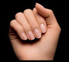 La french manucure sur des ongles arrondis