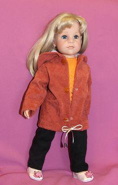Выкройка тёплой куртки на подкладке для куколки ростом 50 см