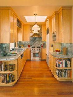 i'd like to open up the ends of my kitchen like this.  Galley Kitchen Design Ideas Design, Pictures, Remodel, Decor and Ideas - page 4