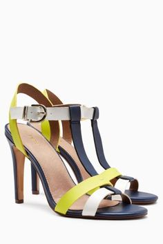 Buy Navy/Lime/White Colourblock Sandals online today at Next: Israel