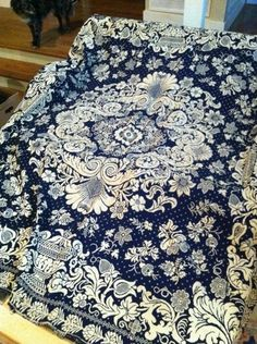 1841 Reversible Jacquard Coverlet | eBay