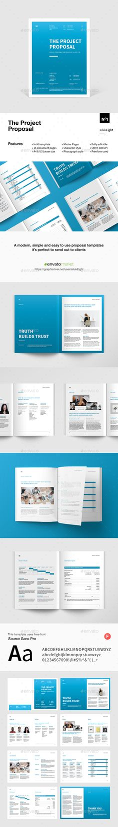 Web Site Advertising Proposal Template InDesign INDD Download here