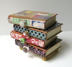 Wooden Book Jewellery Box