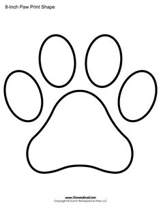 Dog paw print pattern. Use the printable outline for crafts ...