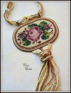 Delicate embroidered jewelry by Olga Orlova   Beads Magic