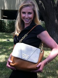 Spotted: Hillary Freeman with her Pop the Champagne Shoulder after an interview in Dallas!