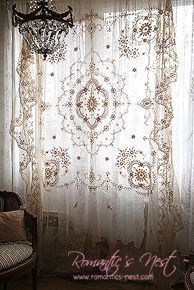cool hang a Goodwill lace bedspread for a romantic boho curtain - Home Decoratin. - Wow Decor - cool hang a Goodwill lace bedspread for a romantic boho curtain – Home Decorating Magazines by ww - Romantic Home Decor, Romantic Homes, Bedroom Romantic, My New Room, My Room, Rideaux Boho, Boho Curtains, Bedroom Curtains, Window Curtains