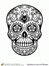 Coloriage Squelette Halloween Tete De Mort Dessin A Imprimer Tagged at jobstips. Skull Coloring Pages, Adult Coloring Book Pages, Mandala Coloring, Colouring Pages, Coloring Books, Sugar Skull Tattoos, Sugar Skull Art, Sugar Skulls, Mexican Skulls