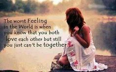 Yes, it is such a horrible feeling, especially when all I want is to just be able to be together without anyone getting in our way baby! I'm hoping really soon that will change!