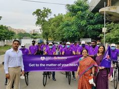 As part of the campaign, 50 cyclists started cycling from the Chennai Press Club and participated in the event ending at Neuberg Diagnostics, Royapettah World Heart Day, Press Release, Social Platform, Chennai, Campaign, Cyclists, Club