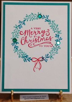 Christmas Card, sentiment - Stampin Up, Image from Stamp of Approval