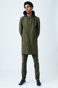 Lee Roach Concealed Front Hooded Coat